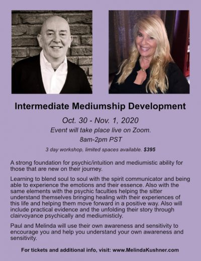 Paul Jacobs and Melinda Mediumship and Spiritual Development Class