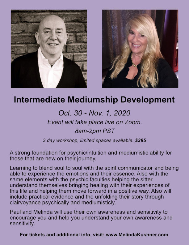 Paul Jacobs and Melinda Mediumship and Spiritual Development Class